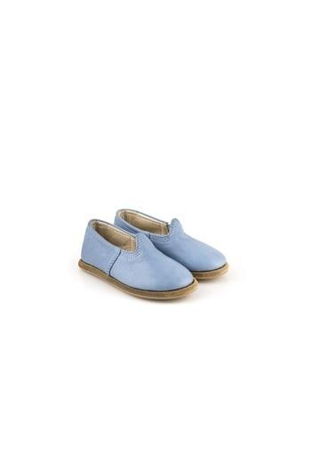 Aintap %100 Hakiki Deri Çocuk Ayakkabı Turquaz Gaziantep Yemeni Turkuaz